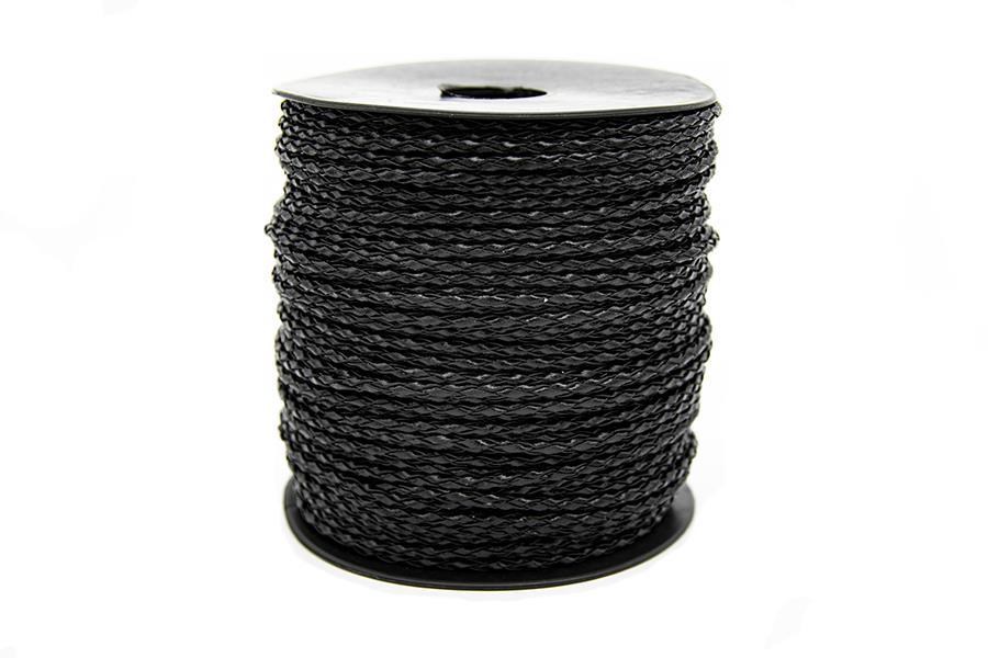 Yuvarlak Suni Deri İp Siyah 2,5 mm Kalınlık 1 Metre Fiyatıdır
