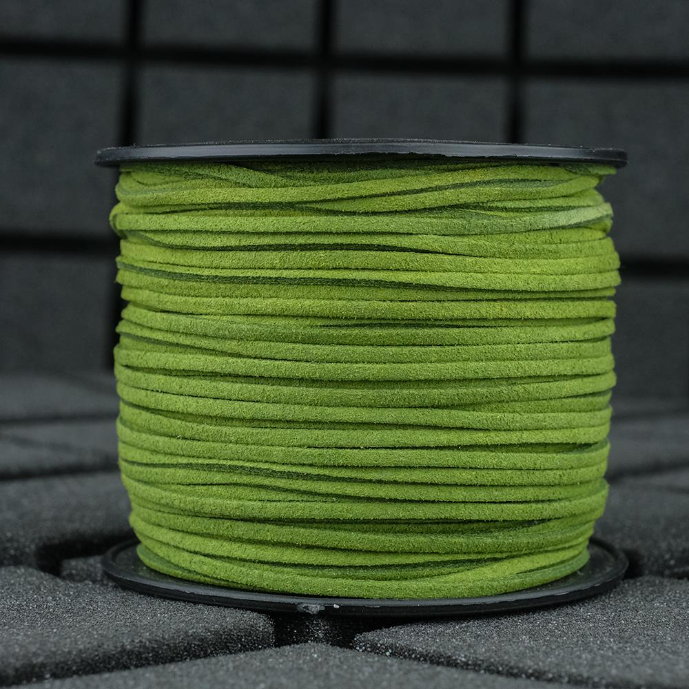 Süet İp Çim Yeşili Renk 2mm Genişlik