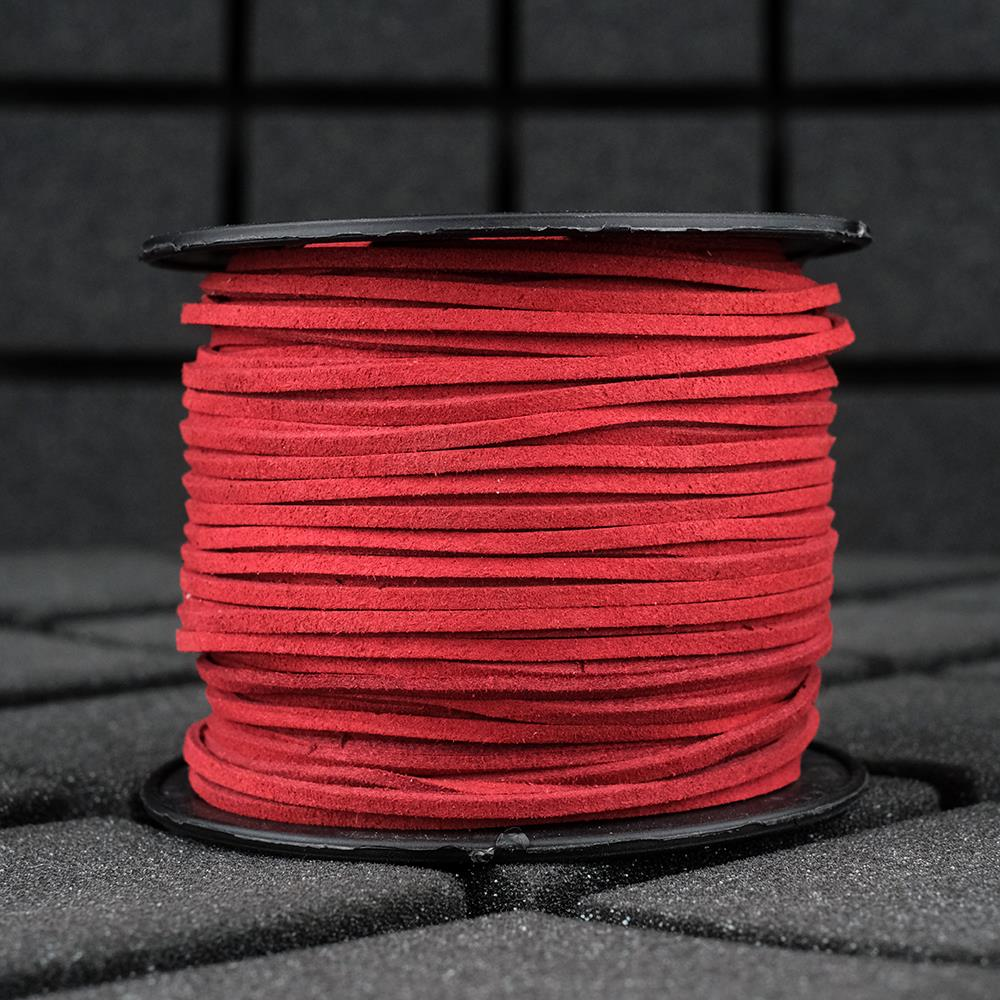 Süet İp Bordo Renk 2mm Genişlik