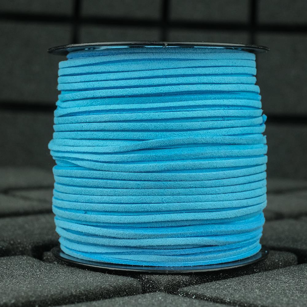 Süet İp Mavi Renk 2mm Genişlik