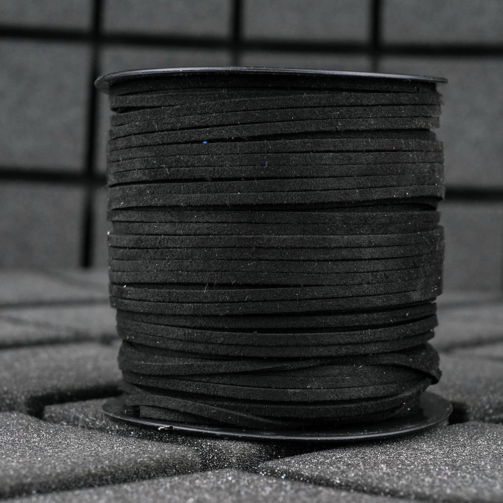 Süet İp Siyah Renk 2mm Genişlik