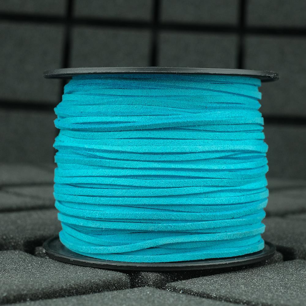 Süet İp Turkuaz Renk 2mm Genişlik