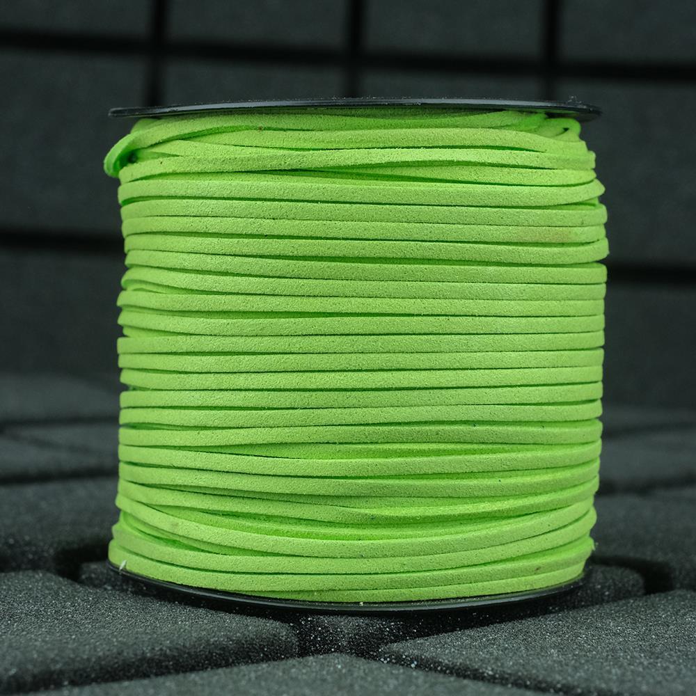 Süet ip Yeşil Renk 2mm Genişlik