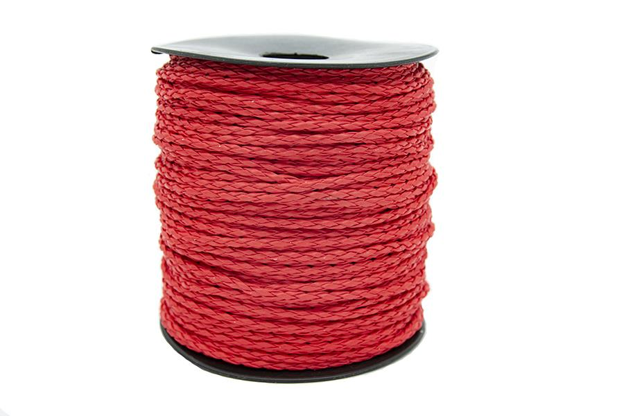 Yuvarlak Suni Deri İp Kırmızı 2,5 mm Kalınlık 1 Metre Fiyatı