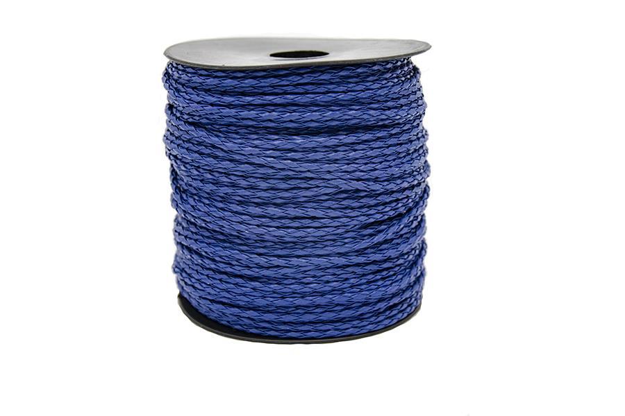 Yuvarlak Suni Deri İp Mavi 2,5 mm Kalınlık 1 Metre Fiyatıdır